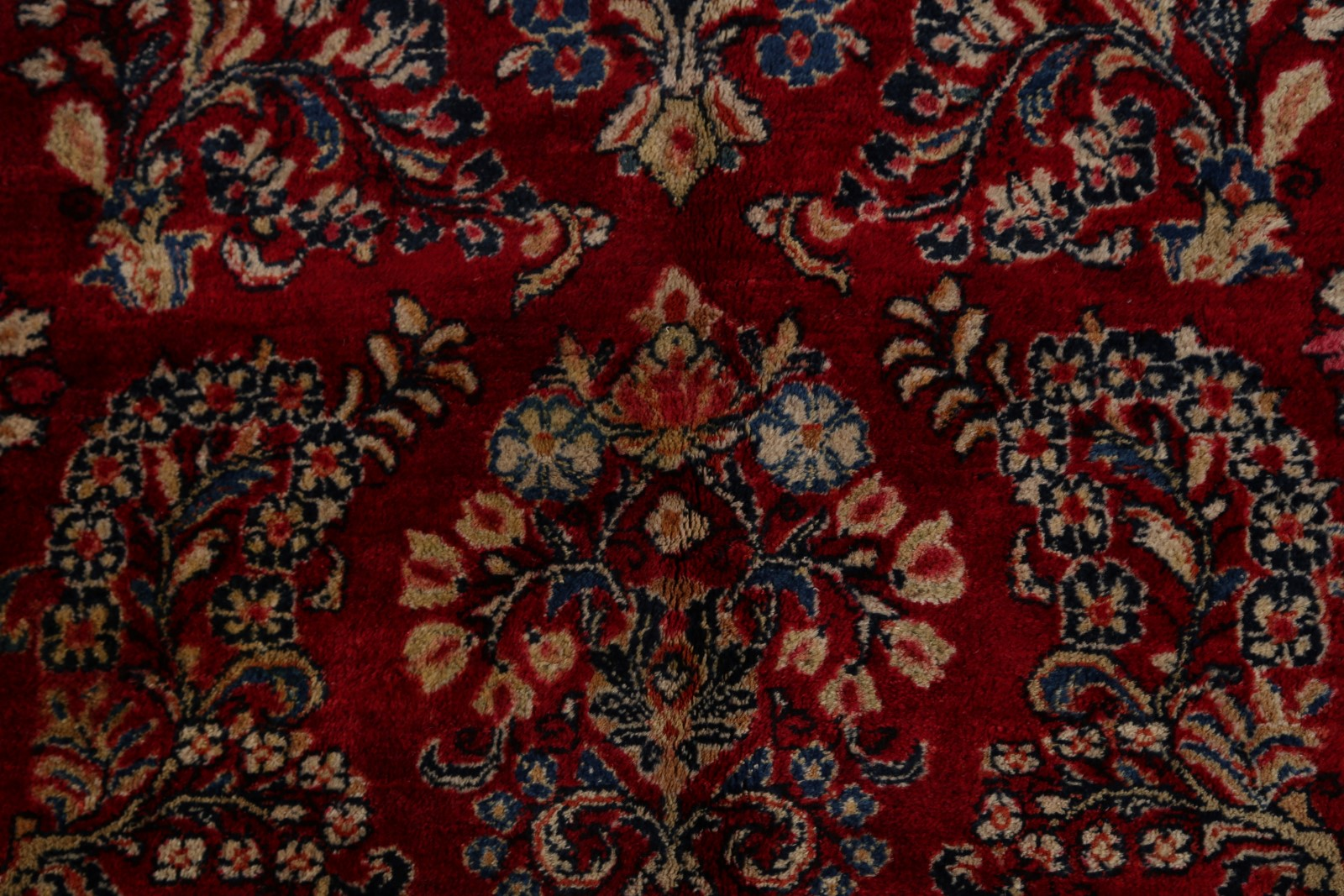 Mansion All Over Floral Antique Sarouk Persian Oriental