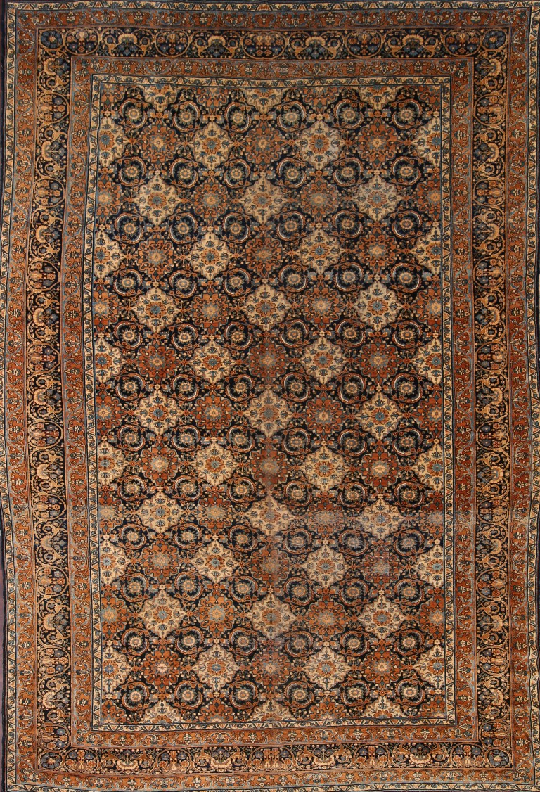 10x15 Room: Antique VEGETABLE DYE Large Kirman Area Rug Hand-Knotted