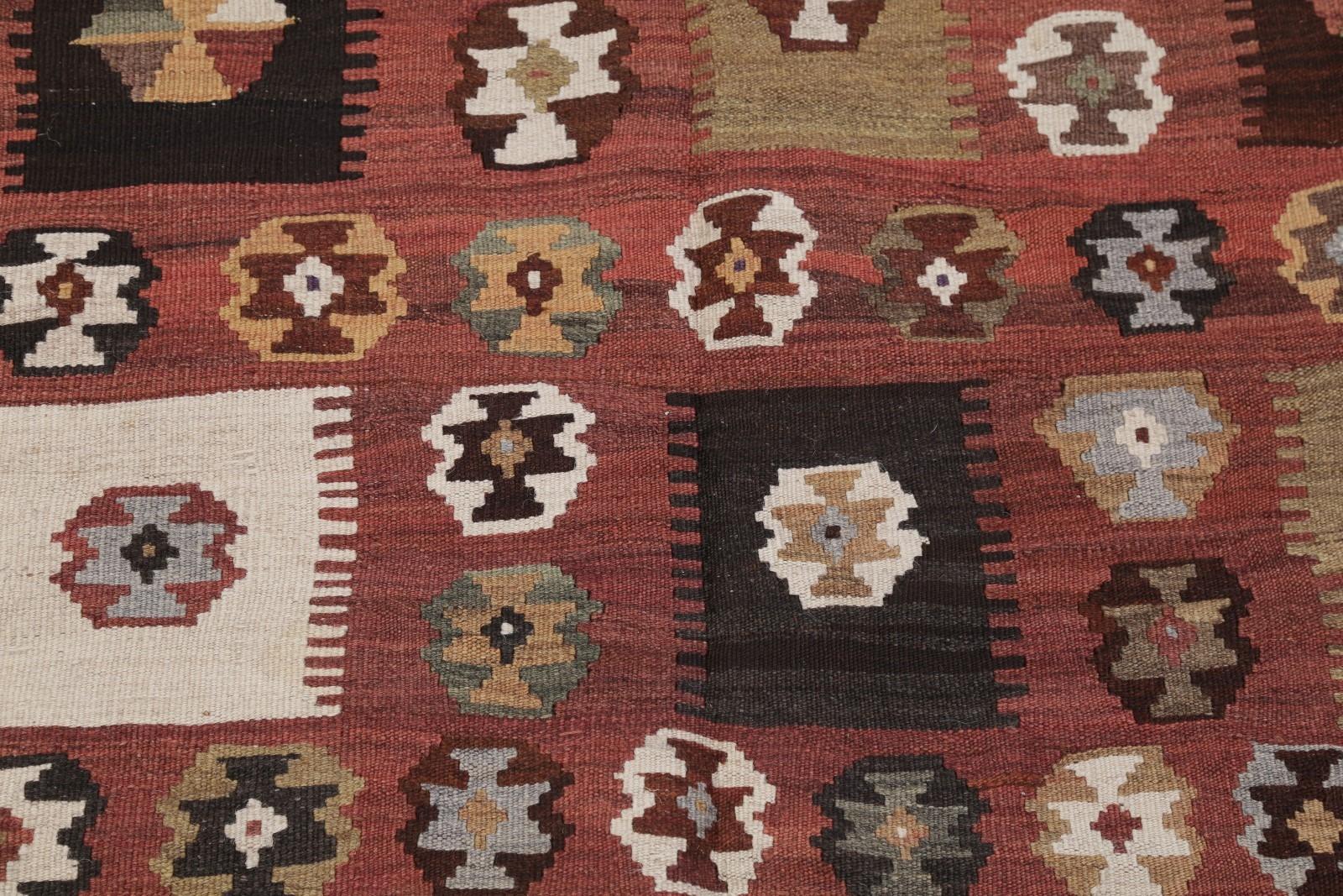 Vintage Flat Weave Geometric Tribal 5x9 Kilim Balouch