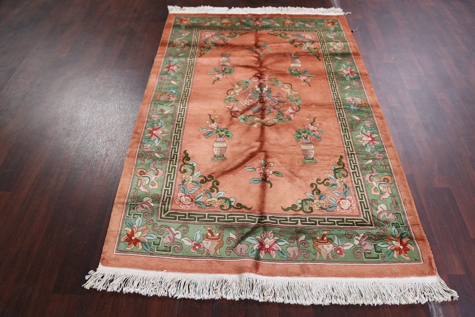 Floral Hand Knotted 5x7 Art Deco Peking Chinese Oriental