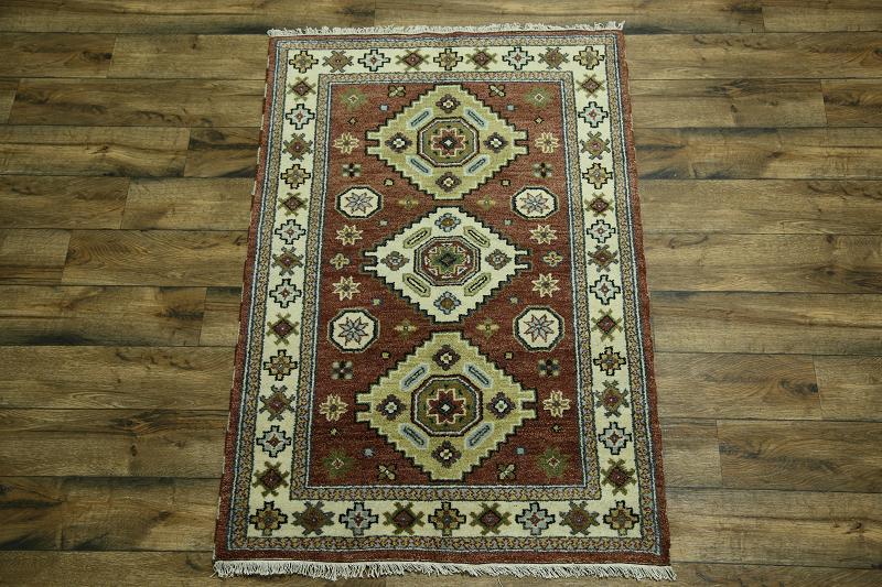 Square Foyer Rug : Handmade foyer size geometric kazak oriental area rug