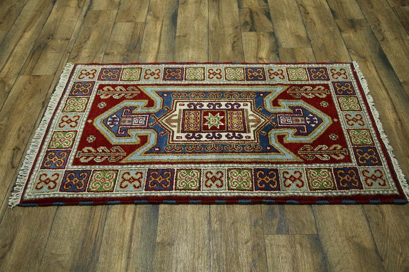 Foyer Rug Uk : Geometric foyer size handmade kazak oriental area rug