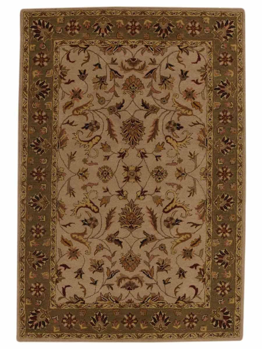 ivory sage green classic floral square 12x12 kashan agra oriental area rug wool ebay. Black Bedroom Furniture Sets. Home Design Ideas