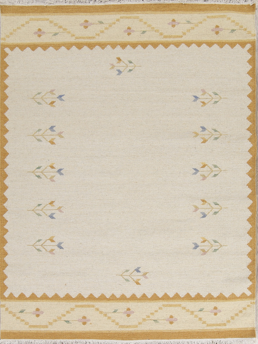 Details About Hand Woven Contemporary Flat Weave Ivory Kilim Dhurrie Oriental Area Rug 7x10