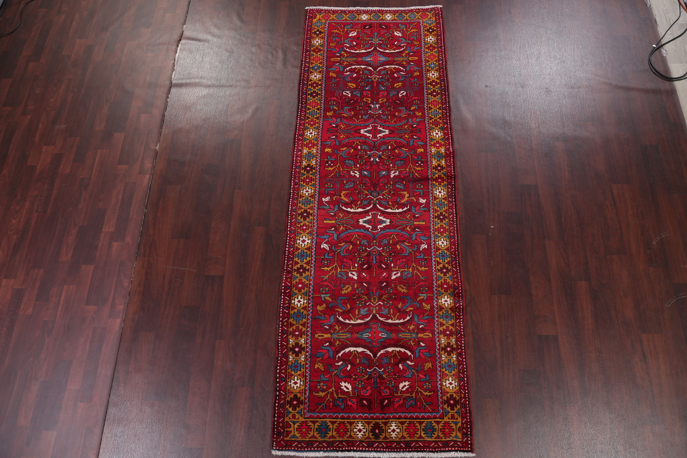 Floral Red Runner All Over Heriz Serapi Persian Oriental