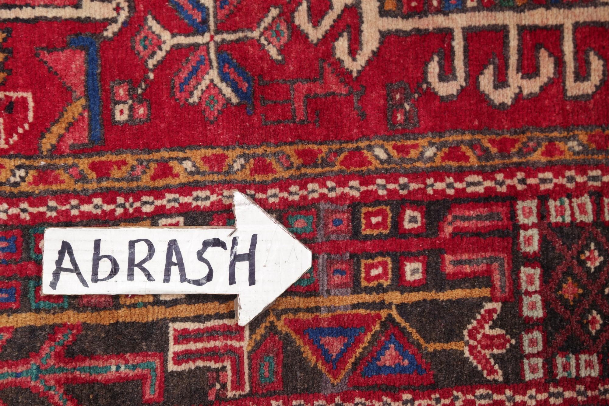 One Of A Kind Geometric Tribal Gharajeh Persian Hand