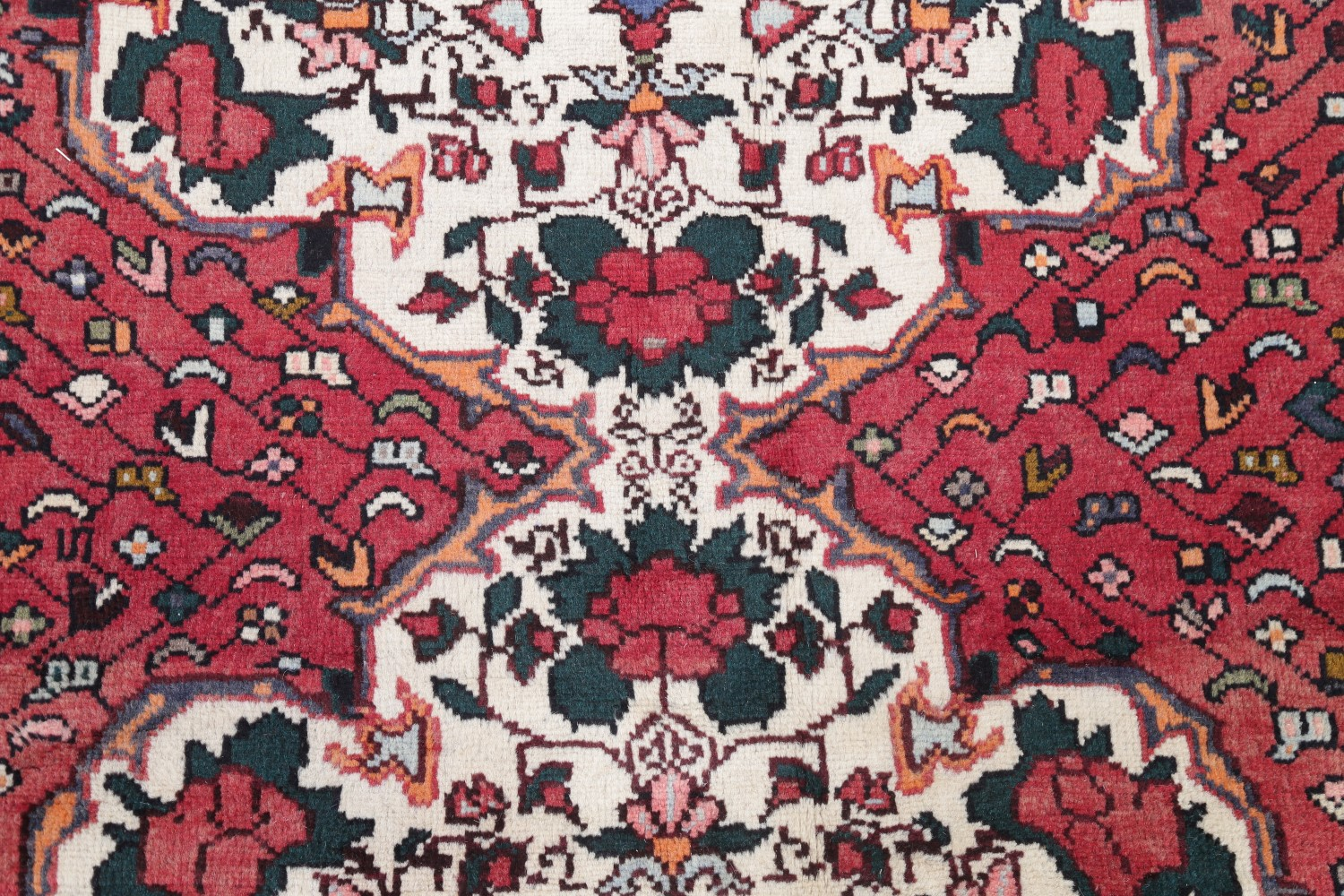 """Authentic Antique Persian Sarouk Oriental Rug Wool Hand Knotted 5' X 3' 3"""" Antiques"""
