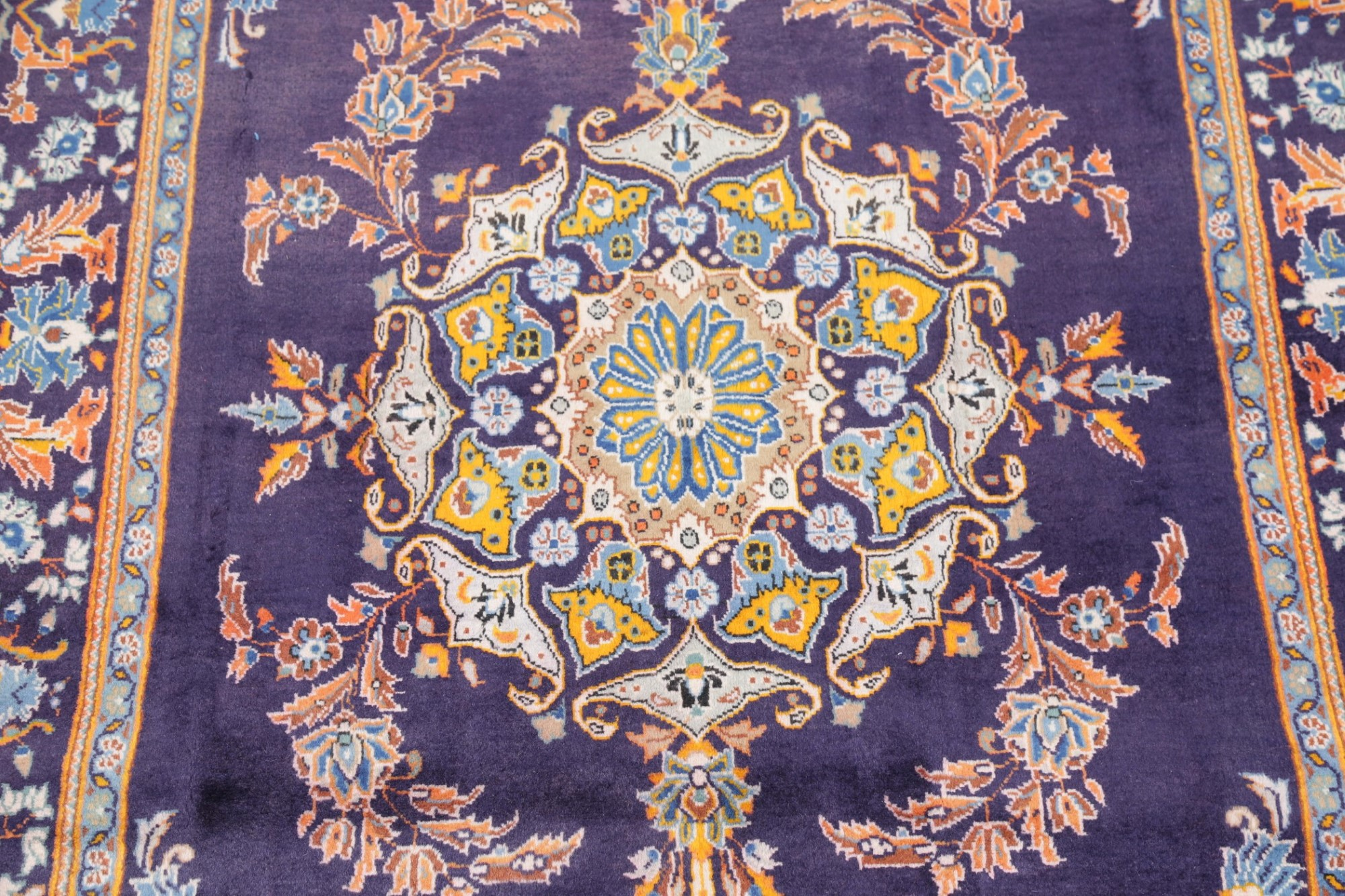 Vintage Medallion Floral Persian Oriental Area Rug Indigo