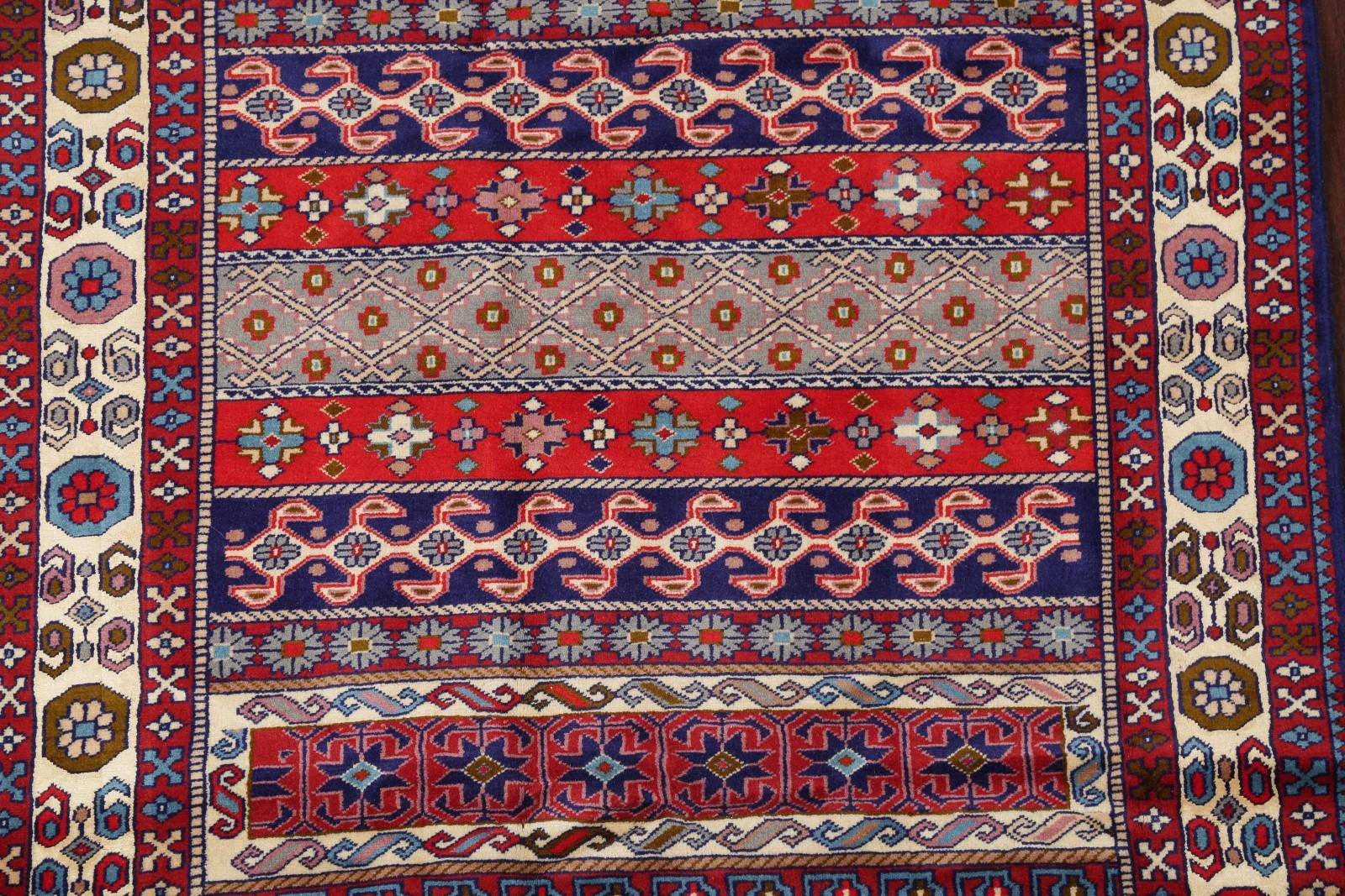 Wool Silk Top Quality 300 Knots Bokhara Pakistan Geometric