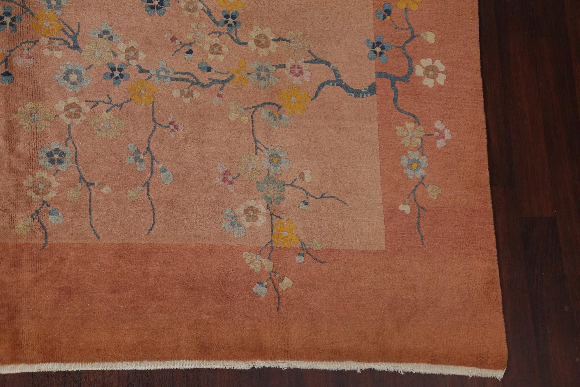 Antique Floral Art Deco Nichols Chinese Oriental Hand