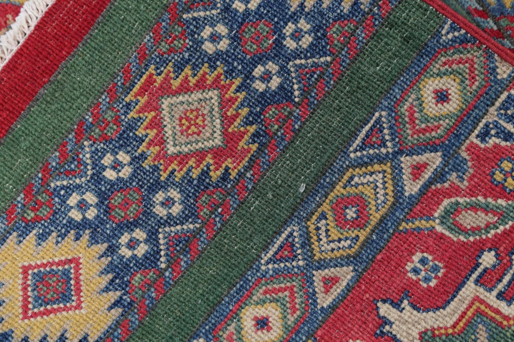 Breathtaking 8 X10 Wool Chechen Kazak Hand Knotted