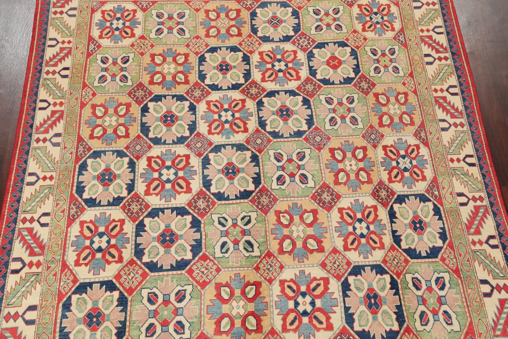 Hand Spun Wool Chechen Kazak Pakistan Oriental Area Rugs