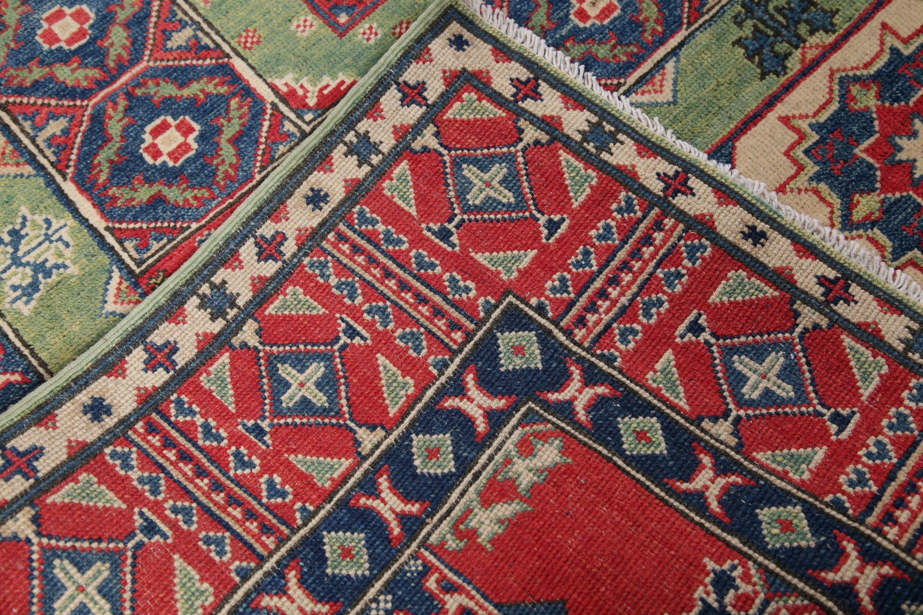 Palace Sized Wide 19 Ft Runner Geometric Oriental Hand