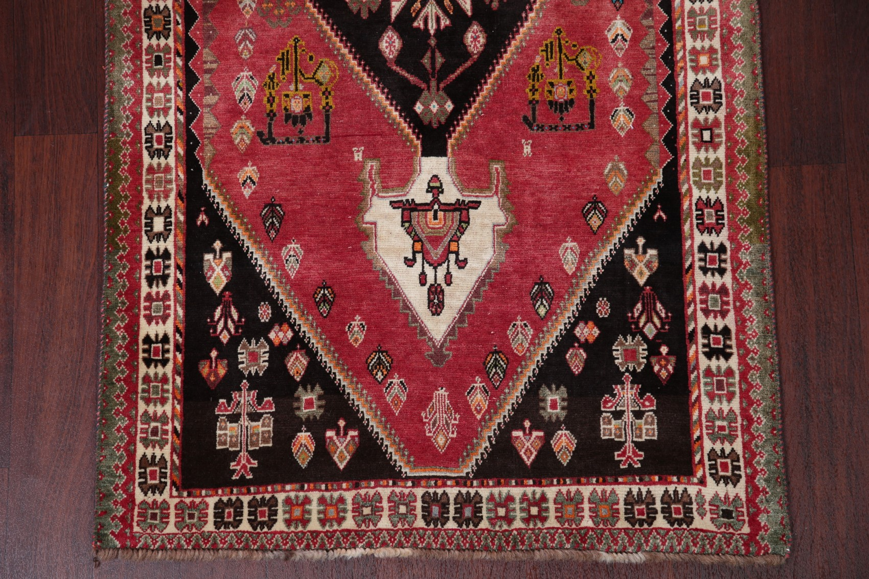 Geometric Kashkoli Abadeh Antique Persian Runner Rug