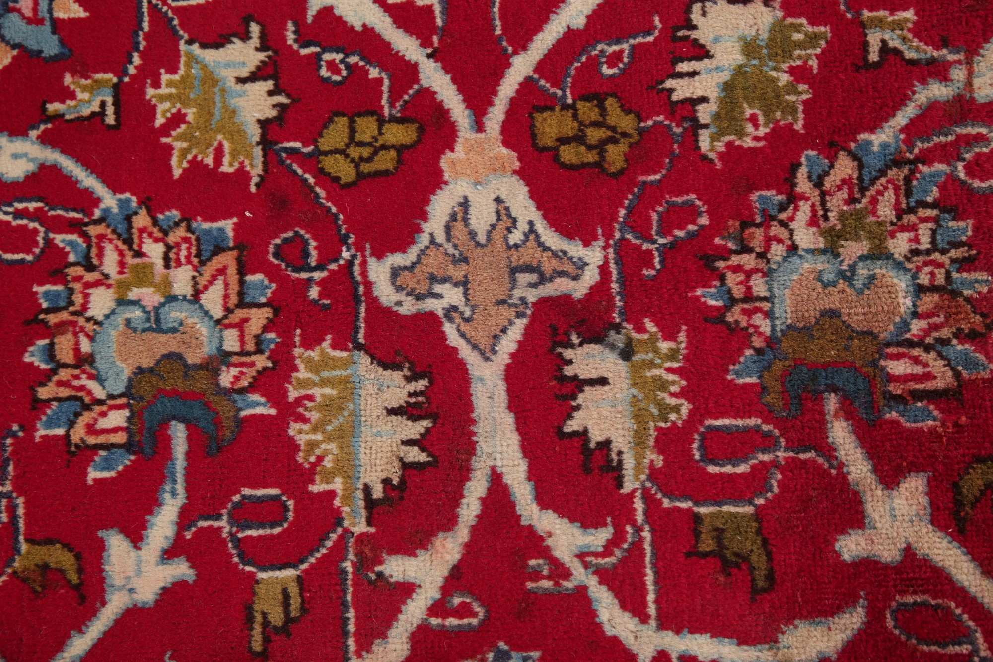 VINTAGE Traditional Persian Area Rug Hand-Knotted Oriental ...