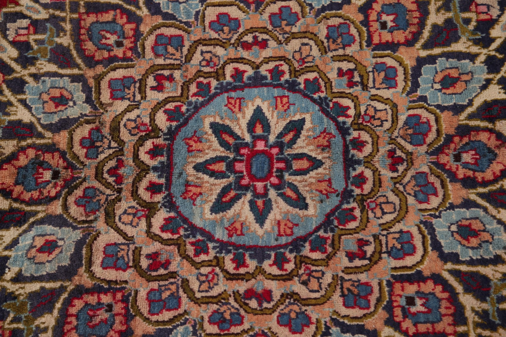 Vintage Traditional Persian Area Rug Hand Knotted Oriental