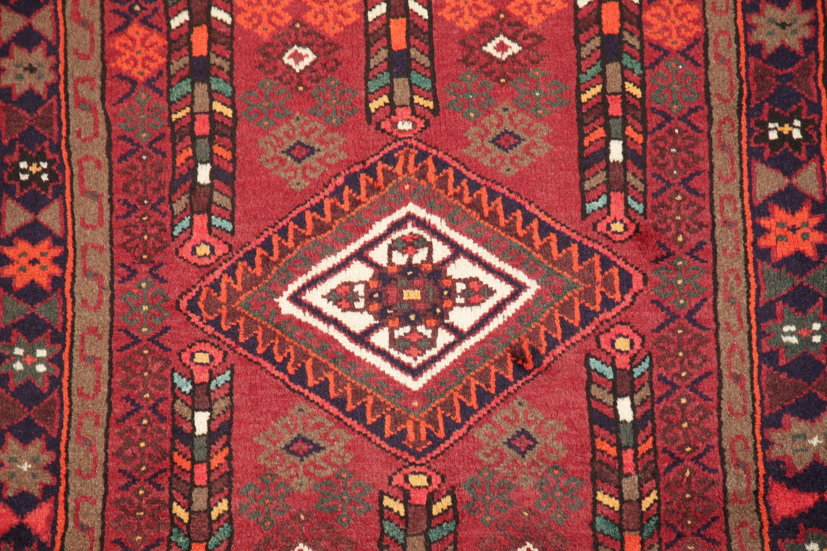 Details About Holiday Deal Geometric Tribal Hamedan Red Area Rug Kitchen Hand Made Carpet 3x5