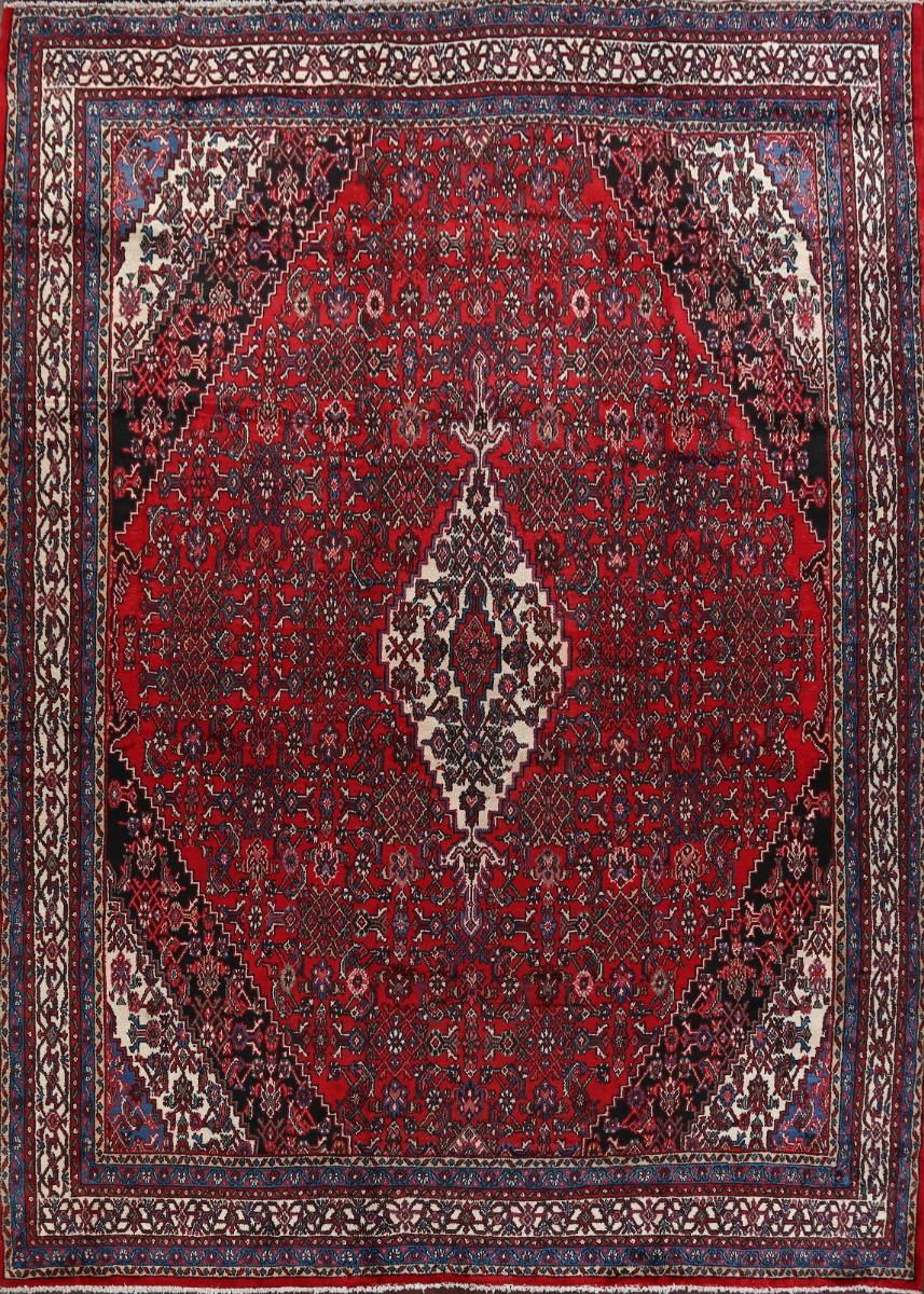 Vintage Geometric Hamedan Area Rug Traditional Oriental Hand Knotted Wool 11x13 Ebay