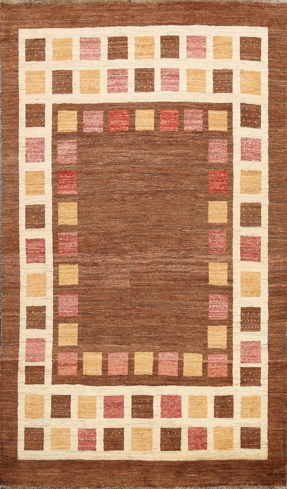 Contemporary Gabbeh Geometric Oriental Area Rug Hand Knotted Wool 5 X7 Carpet Ebay
