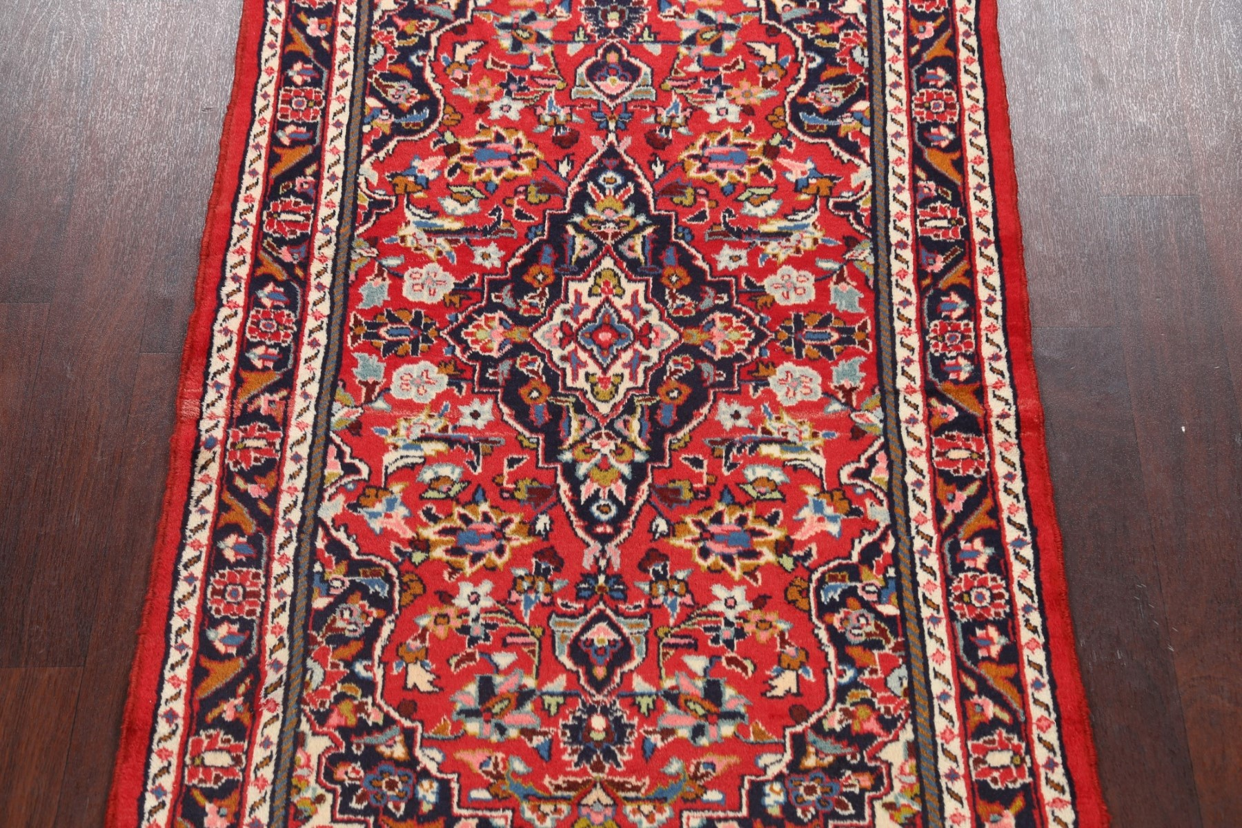 Vintage Floral Traditional Red Navy Blue Area Rug Hand Knotted Oriental 4 X6 Ebay