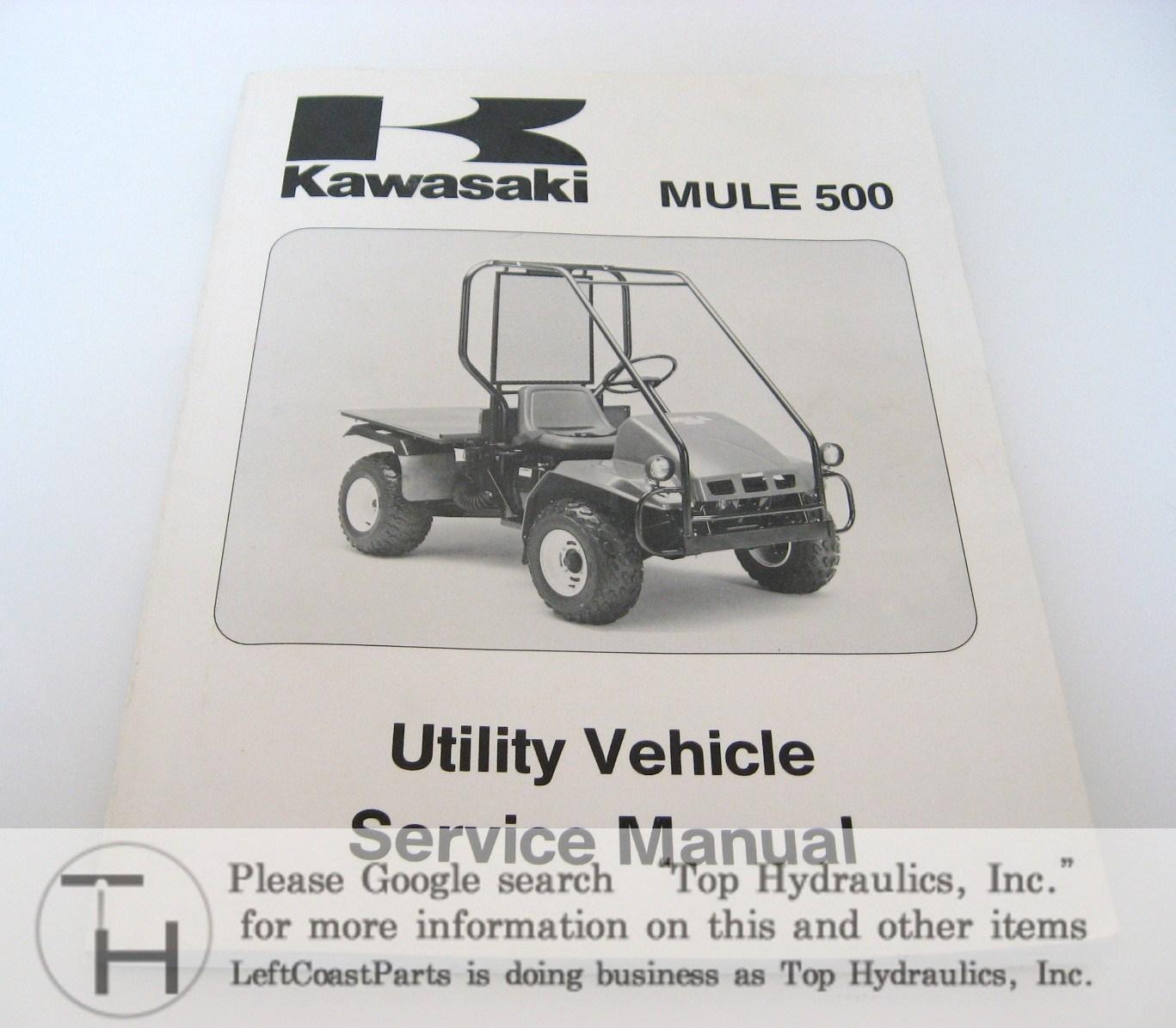 kawasaki mule 500 service manual  kawasaki genuine parts & parts diagrams
