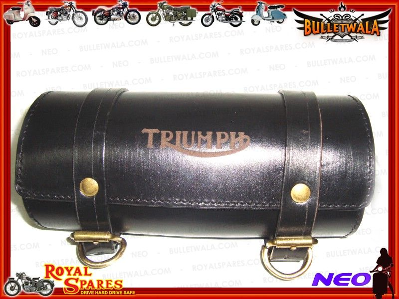 Triumph Customized Genuine Leather Tool Roll Bag New