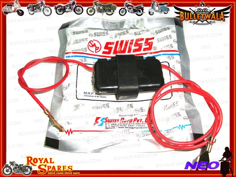 NEW FUSE ASSEMBLY FOR ROYAL ENFIELD BULLET MOTORCYCLES