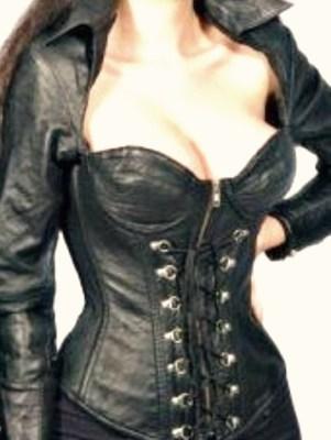 Corset Leather Jacket 113