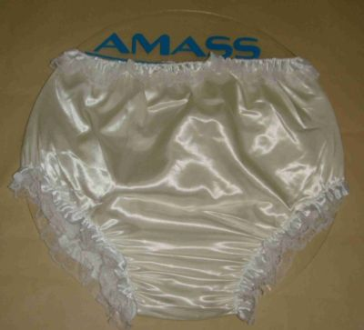 Adult Sissy Satin Frilly Diaper Cover FSP08-4 XL#. Price: $0.99