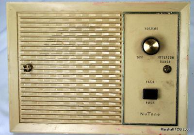 radio  vintage nutone speakers  intercom system