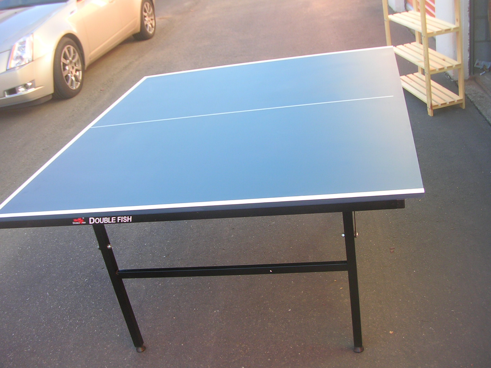 Huamart quality ping pong table folds no assebling for Table tennis 99
