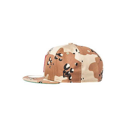 HUF Classic H New Era Fitted in Desert Camo Pick up this fitted style cap  from HUF. The Classic H hat features a desert camo crown ... 04a3bc9ef5bff