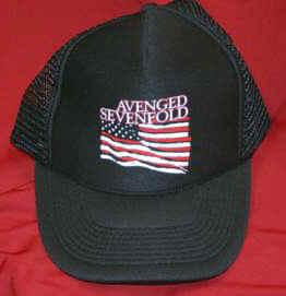 dc4888fb32014 Concert T-Shirts   Avenged Sevenfold Mesh Trucker Hat Flag Logo One Size