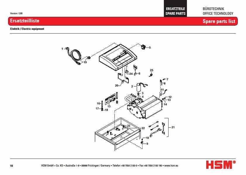 Fellowes Paper Shredder Wiring Diagram on