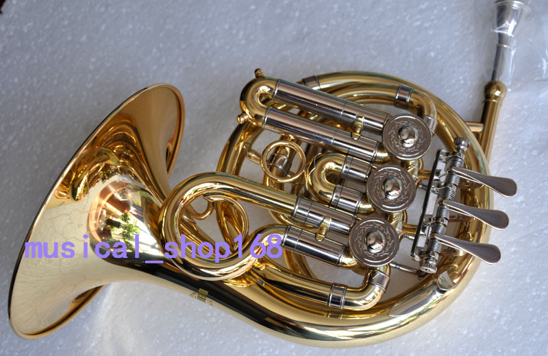 Top new gold Bb mini french horn piccolo french with mouthpiece casePiccolo French Horn Ebay