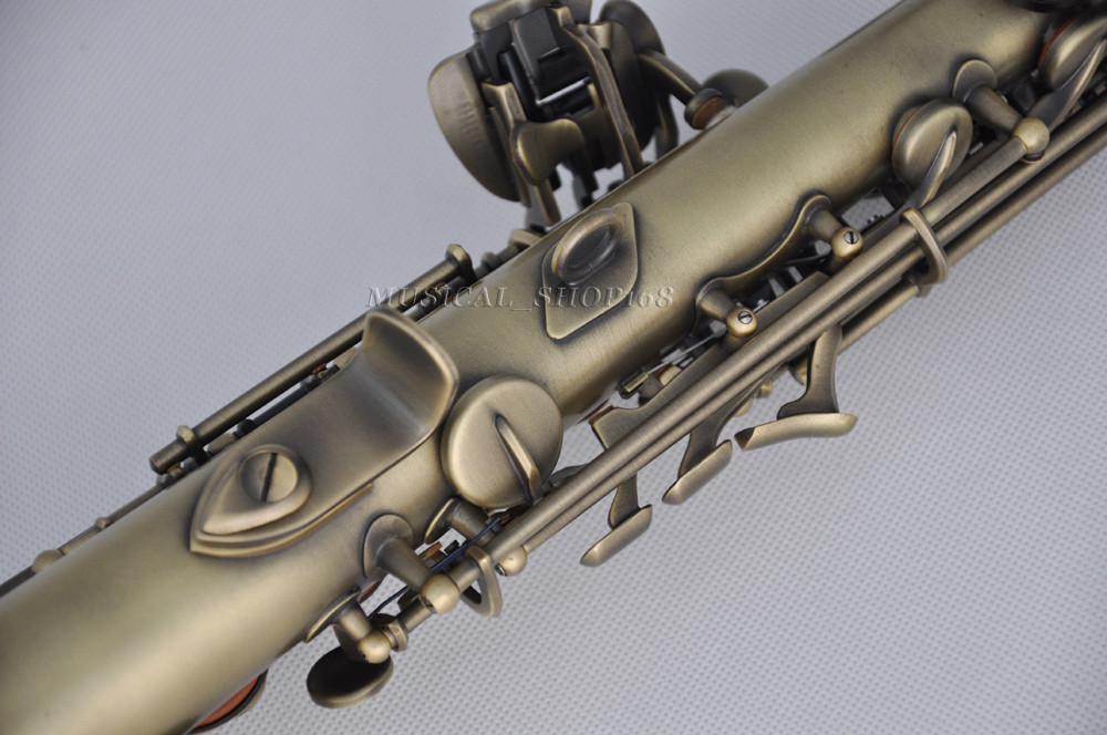 sale professional antique bb soprano sax saxophone curved bell with g key ebay. Black Bedroom Furniture Sets. Home Design Ideas