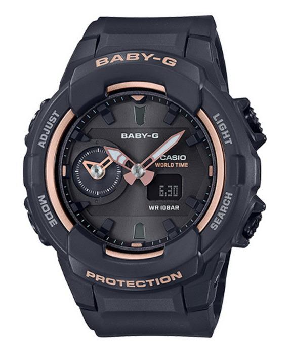 Casio Baby-G BGA230SA-1A Dual Time Black with Pink