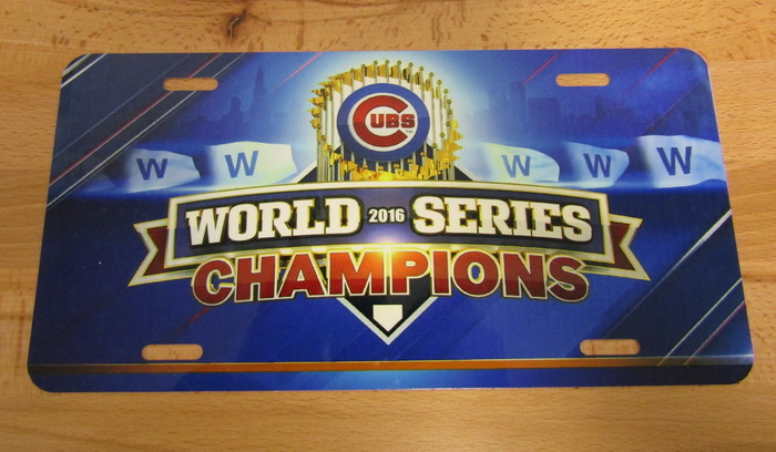 Chicago Cubs World Series Champions 2016 Front Lic