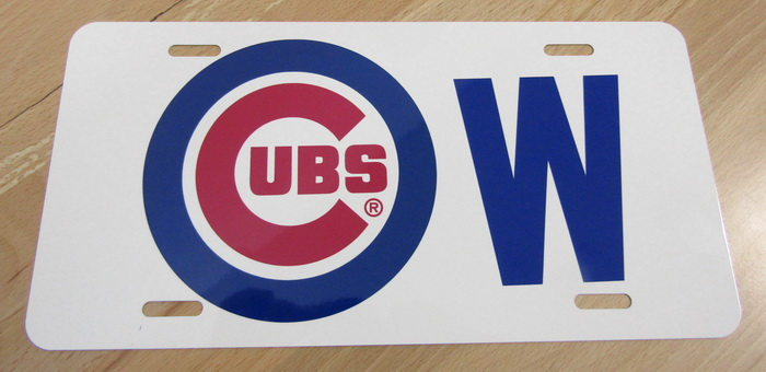 "Chicago Cubs ""W"" Win Front License Plate"