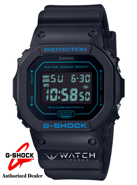 Casio G-Shock DW5600BBM-1 Digital Black with Blue
