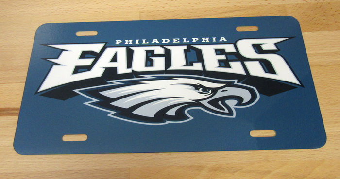 Philadelphia Eagles Front License Plate - Gloss