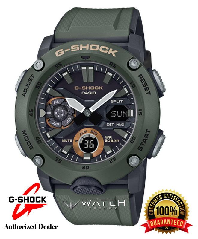 Casio G-Shock GA2000-3A Carbon Core Guard Olive Gr