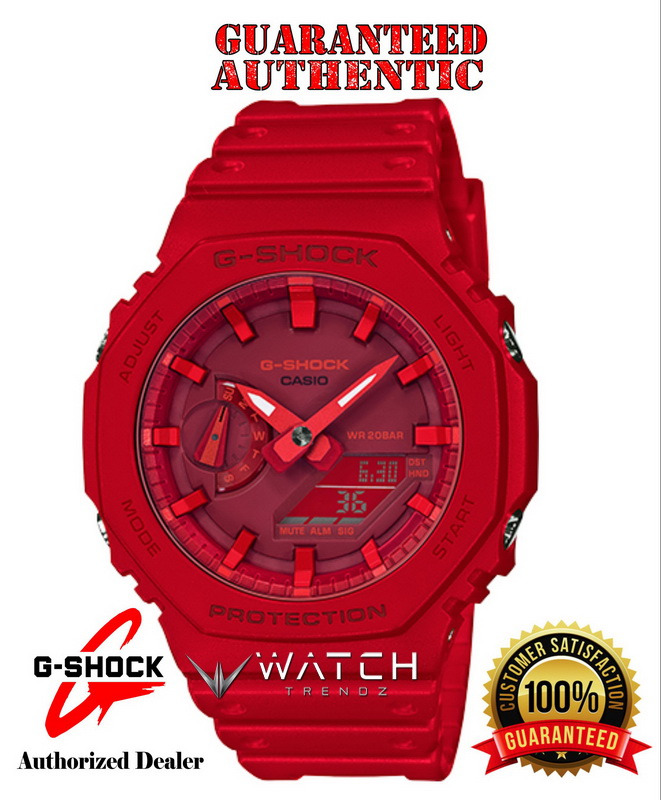 Casio G-Shock GA2100-4A Analog Digital Red Watch