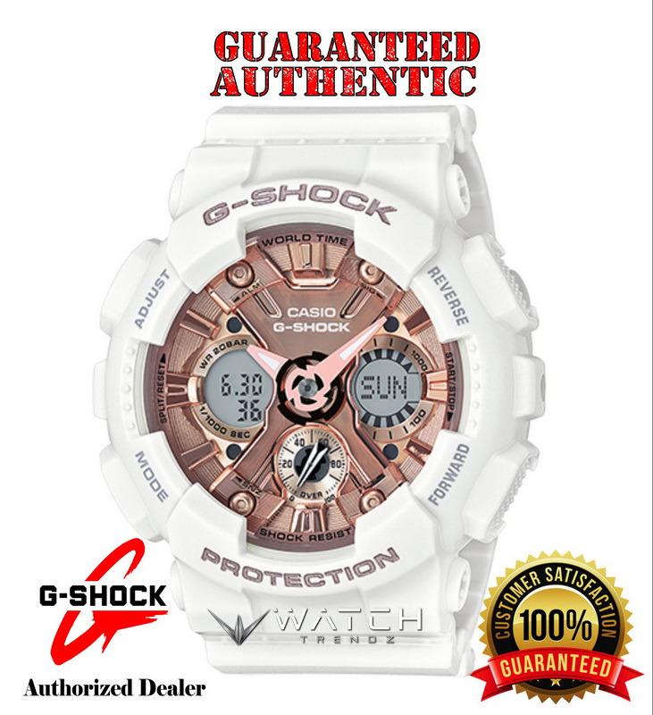 Casio G-Shock GMAS120MF-7A2 Rose Gold Dial White A