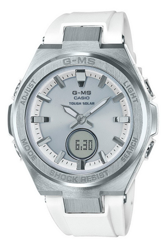 Casio Baby-G MSGS200-7A G-MS Solar Powered White W