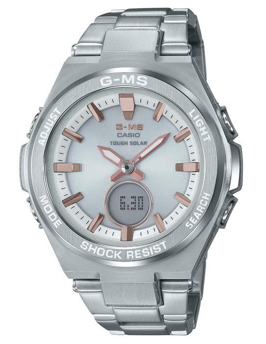 Casio Baby-G MSGS200D-7A Solar Powered - Stainless