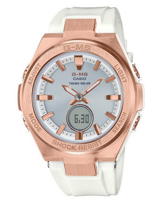 Casio Baby-G MSGS200G-7A G-MS Series White and Pin