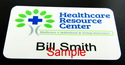 Full Color Name Badge - Name Tag Magnet Fastener Y