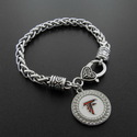 Atlanta Falcons Football Charm  With Antique Silve