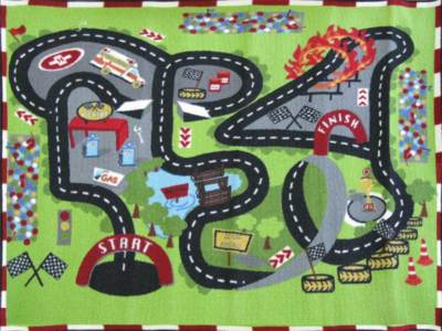 car track kids rugs on childrens race track activity play rug 4 x 5 new